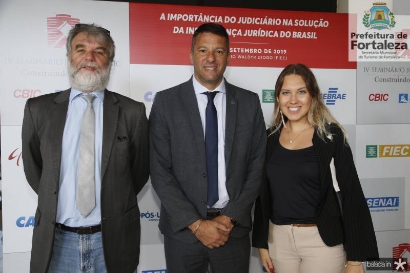 Paulo Rossi, Washington Serqueira e Jessica Barz
