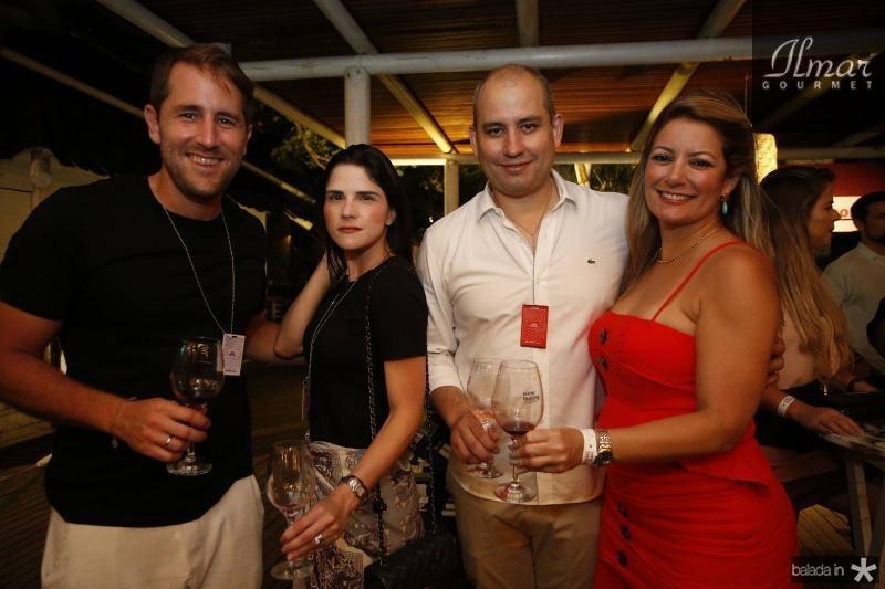 Rodrigo Frotam, Marilia Vasconcelos, Andre Linheiro e Tatiana Luna