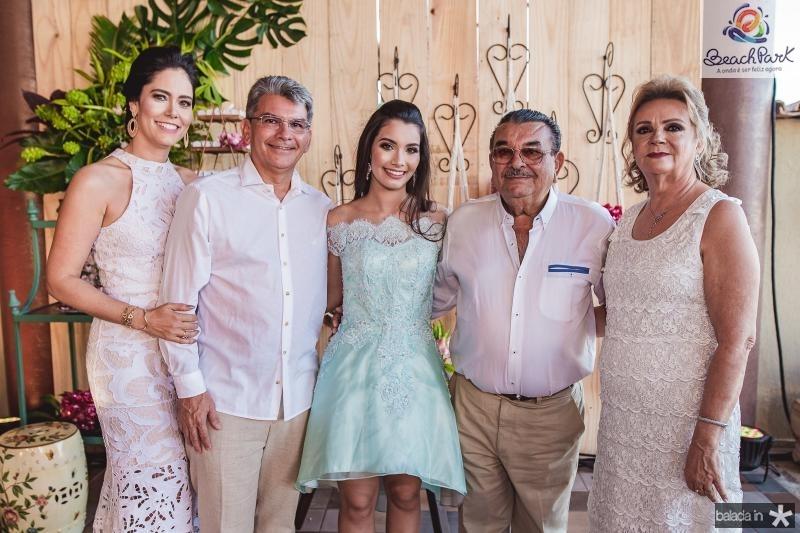 Sylvia Leal, Decio Barreto, Sofia Leal, Decio Barreto e Socorro Barreto