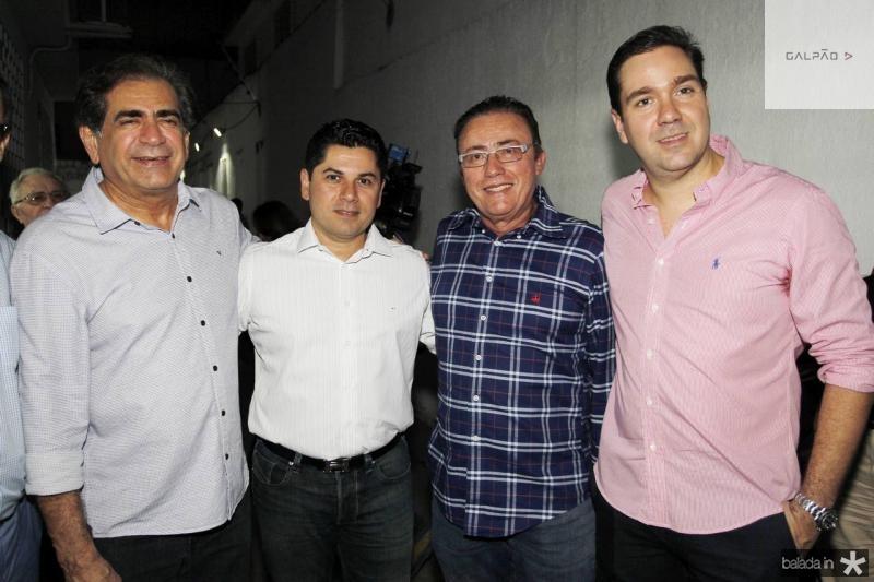 Zezinho Albuquerque, Pompeu Vasconcelos, Darlan Leite e Eduardo Bismarck