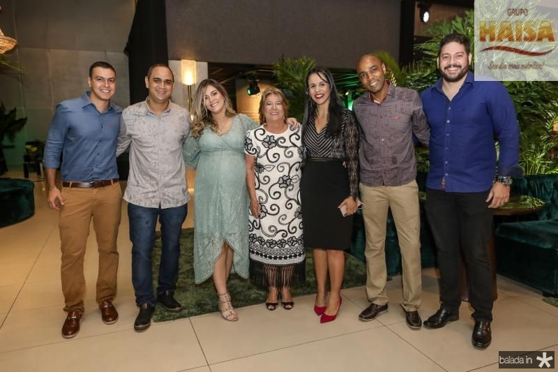 Marcos Pontes, Enio Tales, Mariana e Ana Lucia Mota, Daniela Ribeiro, Sandro Penas e Jemes Monteiro