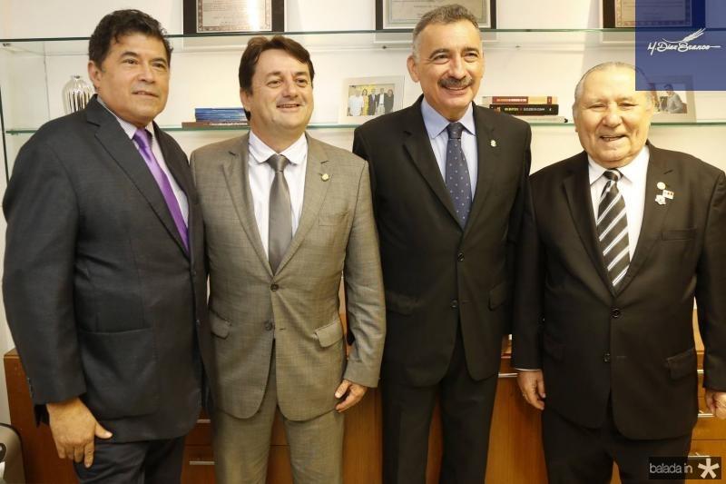 Carlos Mesquita, Benigno Junior, Artur Bruno e Idalmir Feitosa