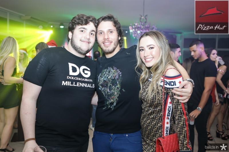 Luciano, Aluizio e Lissa Dias Branco