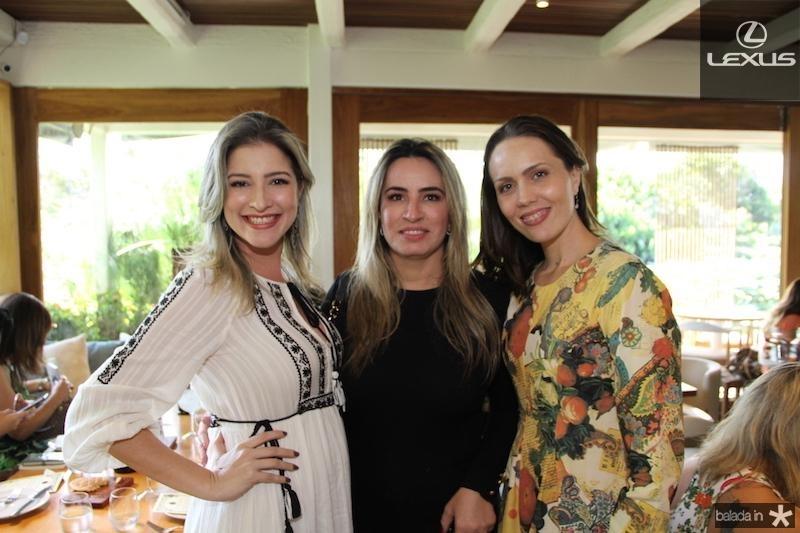 Leiliane Pinheiro, Cristina Vasconcelos e Cintia Sampaio