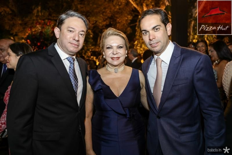 Paulo, Iracema e Claudio Vale
