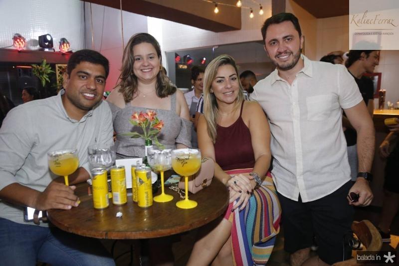 Felipe Medeiros, Julia Vieira, Joyce Godinho e Welvio Cavalcante