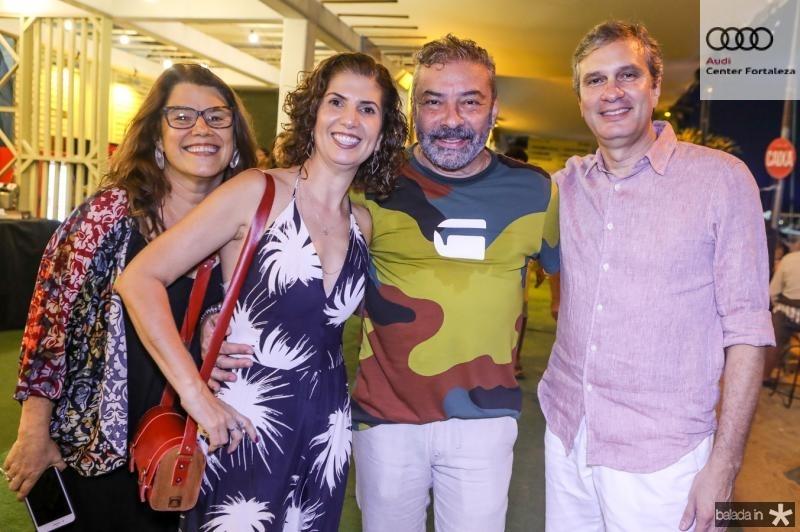 Ana Soter, Luciana Lobo, Claudio Silveira e Tiago Santana