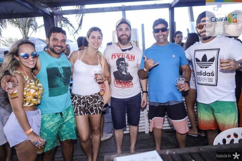 Ticiane Vieira, Daniel Rossi, Daniele Cavalcante, Stefano Marques, Henrique Lima e Felipe Zuruca
