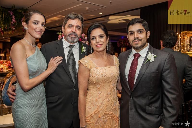 Joana, Totonho, Elusa e Fernando Laprovitera