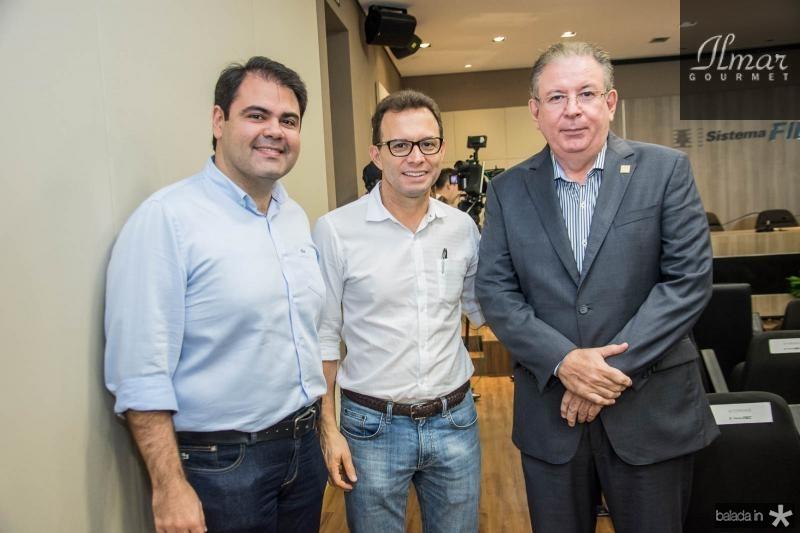Marco Aurelio, Antonio Vidal e Ricardo Cavalcante