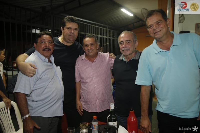 Aurize Maia, Wilton Bezerra, Didico Vasconcelos, Clovis neto e Haroldo Pedreira