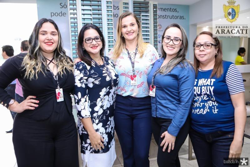 Tarsila Braga, Amanda Nobrega, Nina Freitas, Wladia Veleria e Cassia Cardins