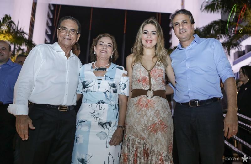 Beto e Ana Studart, Onelia e Camilo Santana
