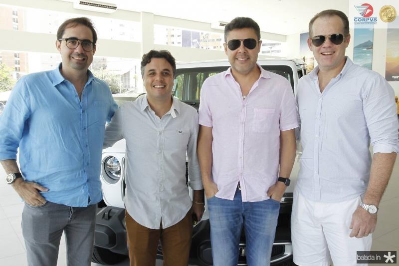 Pedro de Castro, Michele Abatemarco, Gustavo Cruz e Celio Junior