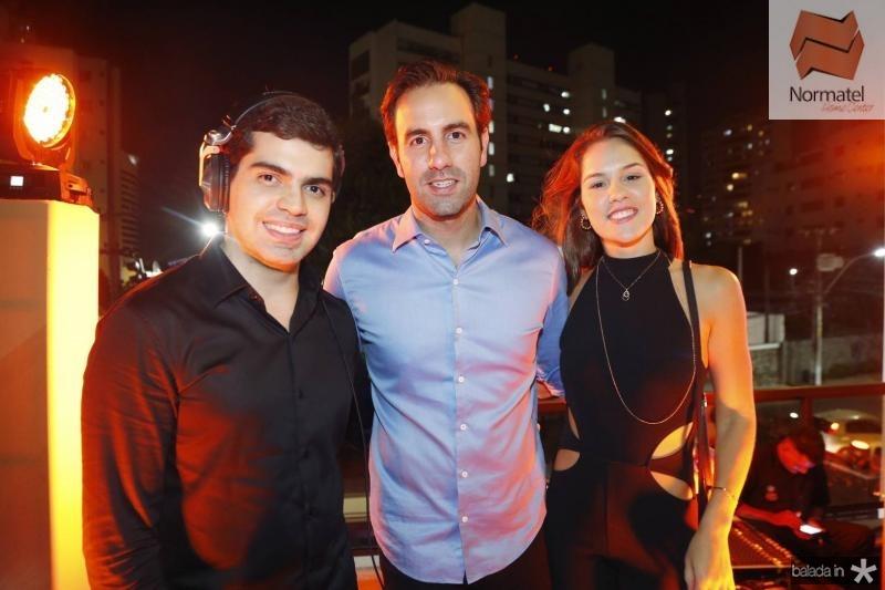 Pedro Garcia, Vitor e Dani Frota
