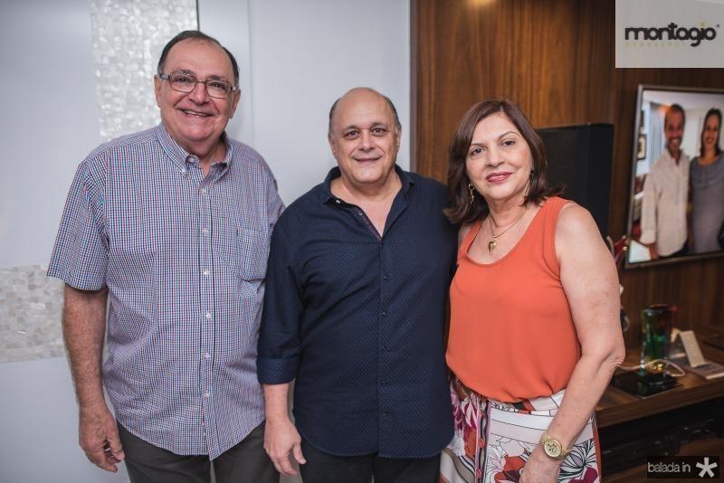 Paulo Fontenele, Philomeno Junior e Salete Fontenele
