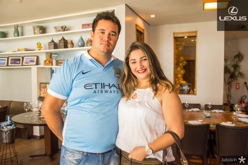 Marlon Leite e Fabiane Moraes