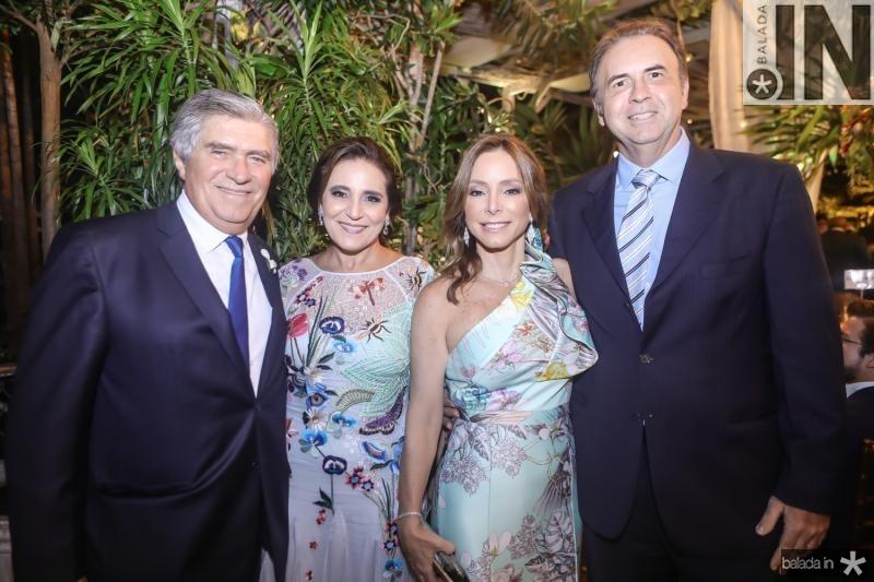 Amarilio e Patricia Macedo, Ana Paula Daude e Joao Catebi Melo