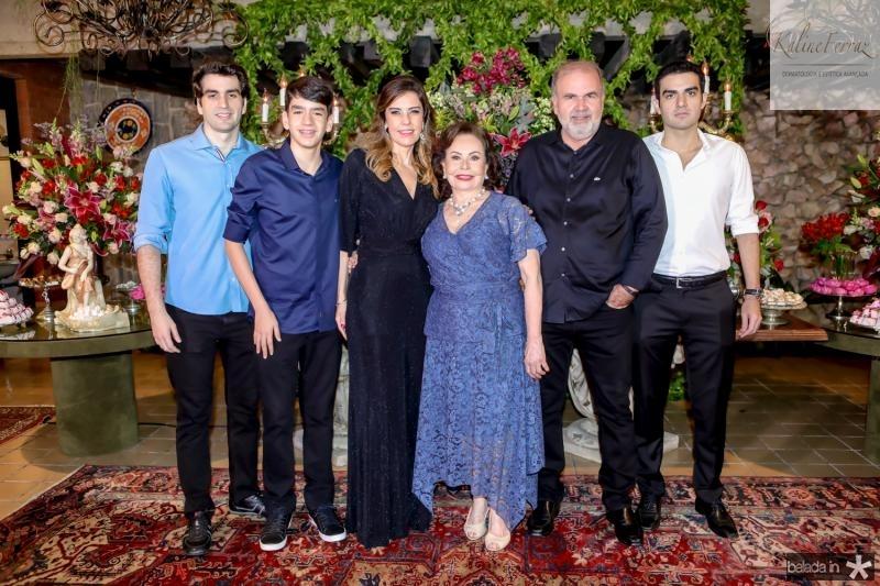 Rafael, Leonardo, Rosele e Marly Nogueira, Haroldo Diogo e Rodrigo Nogueira