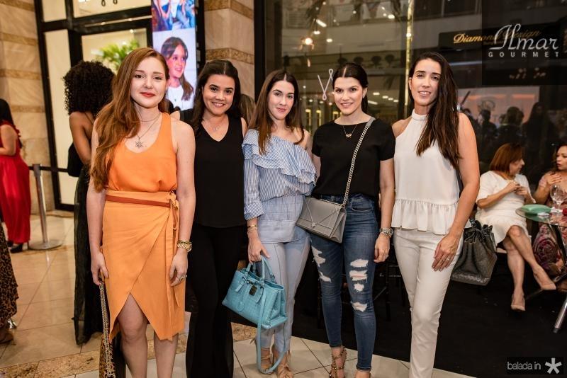 Larissa fujita, Priscila Leal, Sarah Brasil, Liana Brasil e Mariana Lima