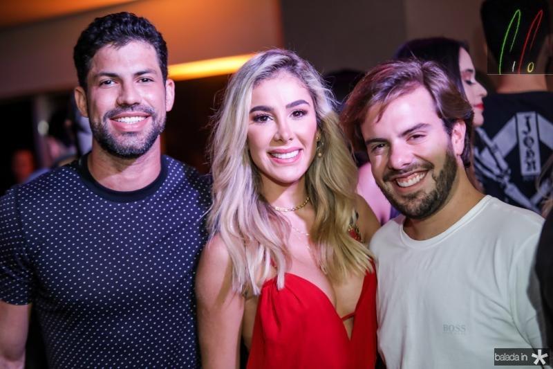 Luiz Felipe, Priscila Silva e Claudio Nelson