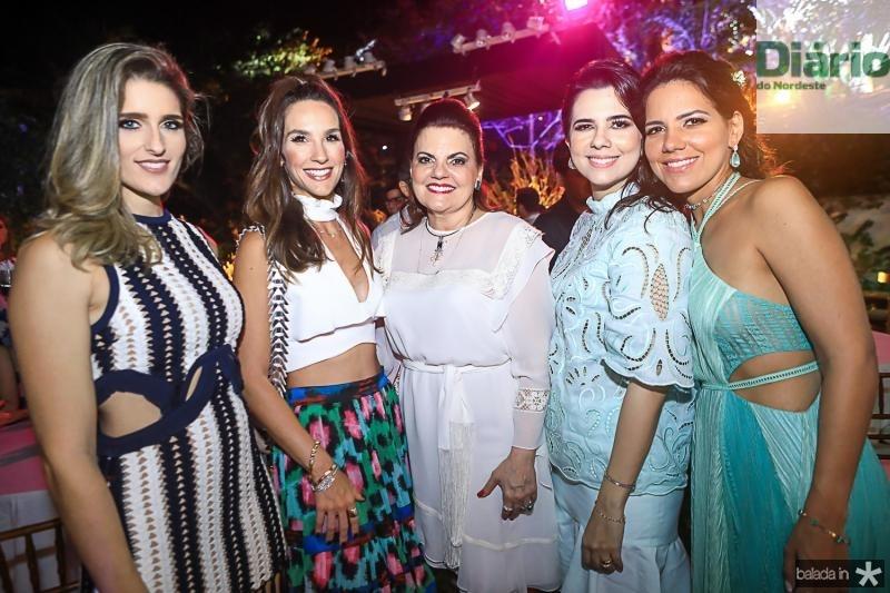 Rebeca Leal, Marcela Carvalho, Luisiane Esteves, Priscila e Ana Carolina Fontenele