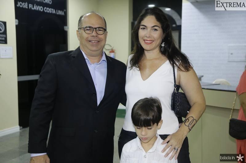 Marcio Menezes, Isabella e Pedro Fiuza