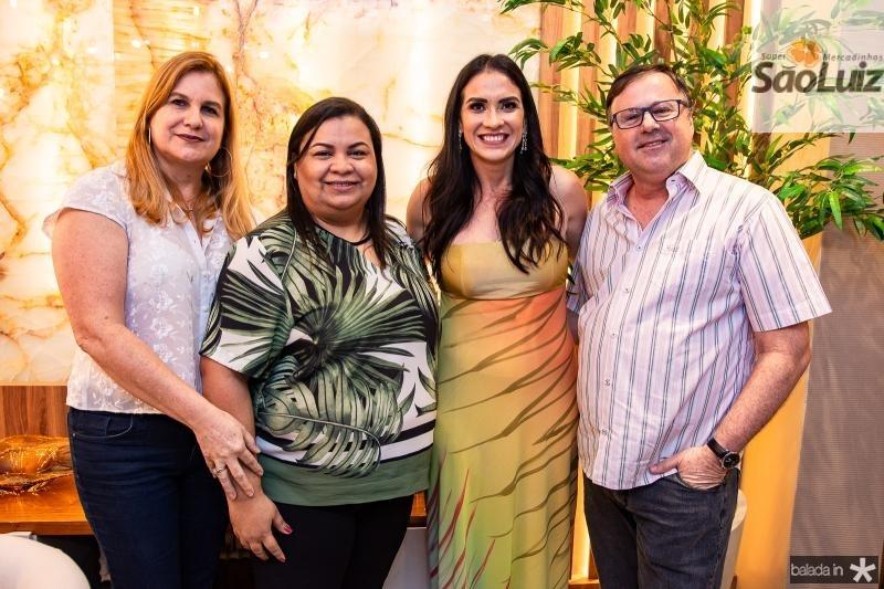 Marinez Charron, Adriana Monteiro, Luciana Carioca e Francois Charron