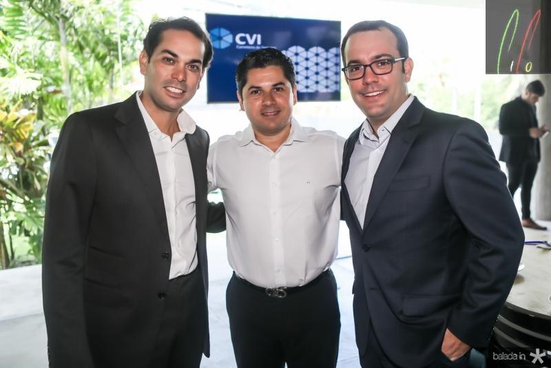 Claudio Vale, Pompeu Vasconcelos e Ivo Machado