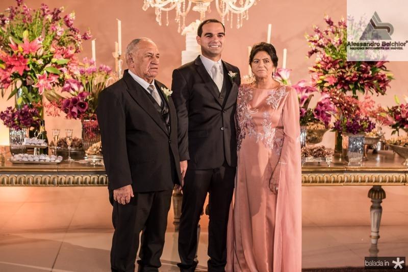 Jose de Moura, Caio e Francisca Dias