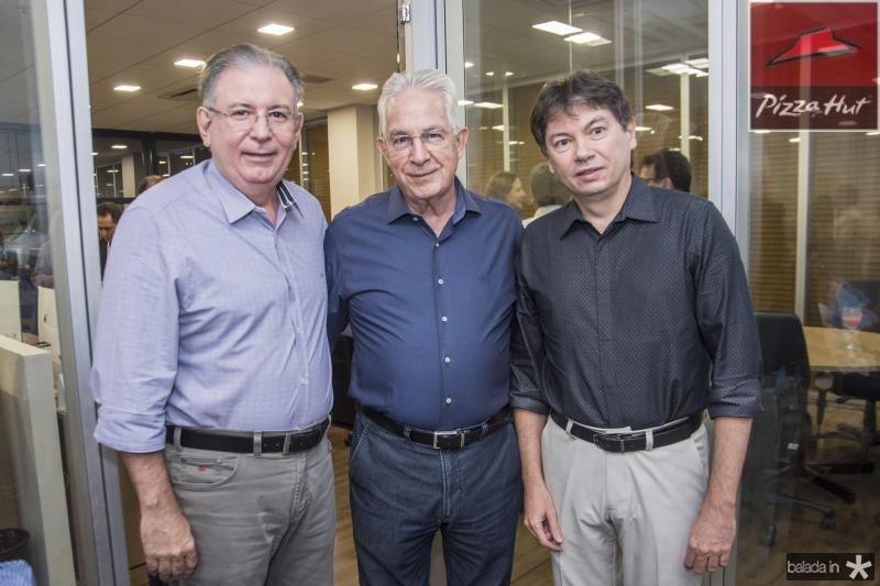 Ricardo Cavalcante, Carlos Prado e Edgar Gadelha