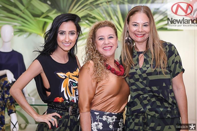 Francesca Munfrinatti, Bricia Teixeira e Milena Lima