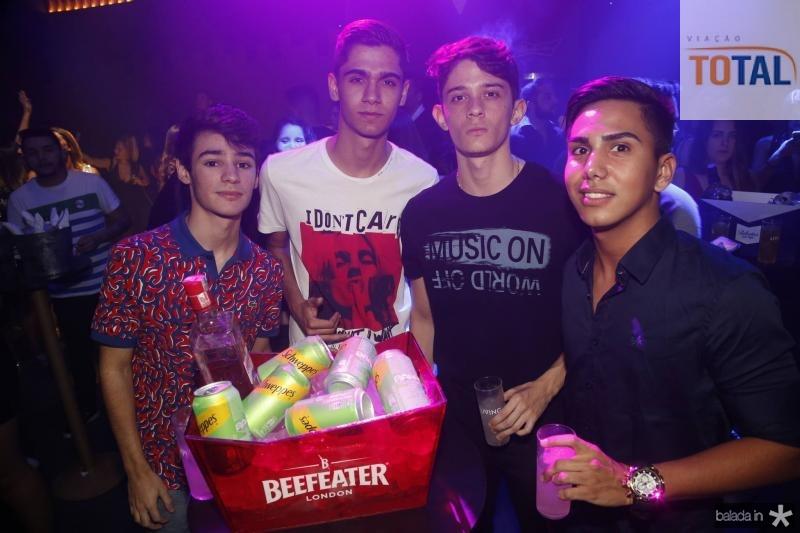 Eduardo de Mendeiros, Igor Honorato, Joao Pedro e Francisco Matheus