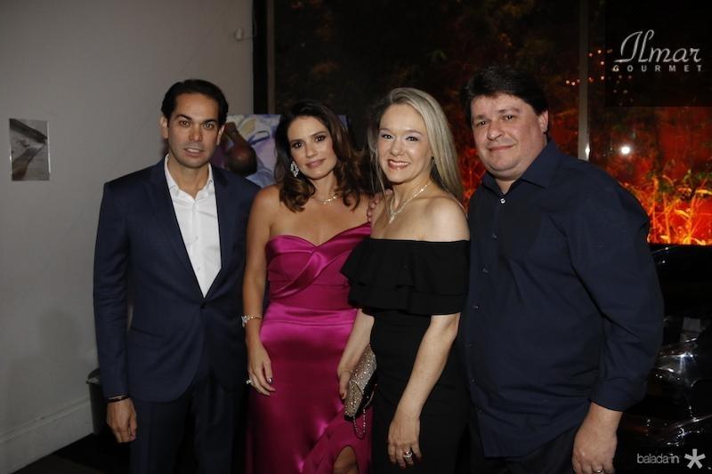 Claudio e Renata Vale, Erika e George Lima