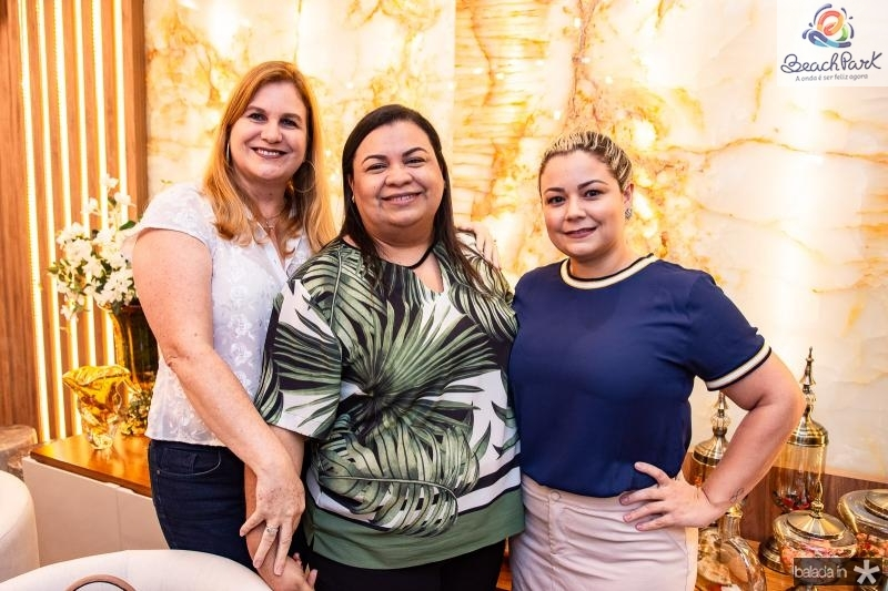 Marinez Charron, Adriana Monteiro e Eveline Pontes