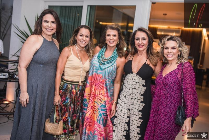Andreia Rios, Ligia Vilar, Alexandra Pinto, Cristina Montengro e Lilian Porto