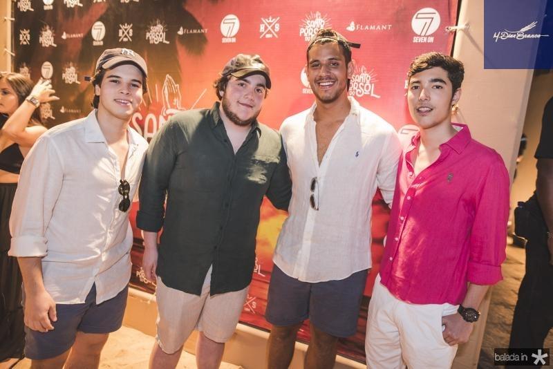 Geraldo Rola Filho, Luciano Dias Branco, Luca Dias Branco e Pedro Torres
