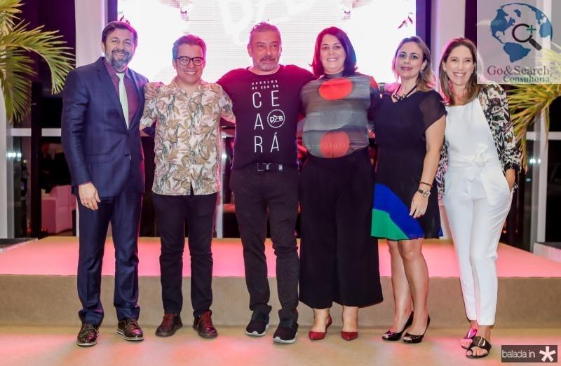 Elcio Batista, Fabiano Piuba, Claudio Silveira, Patricia Varela, Georgea Philomeno e Carol Quintero