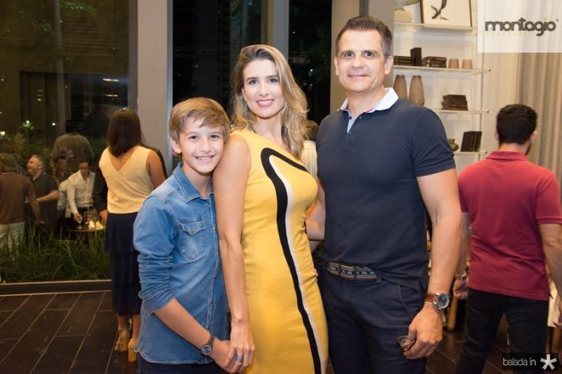Lucas, Suzana e Marcelo Fiuza