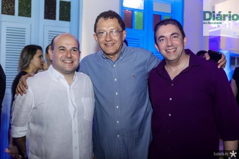 Roberto Claudio, Elpidio Nogueira e Rodrigo Pereira