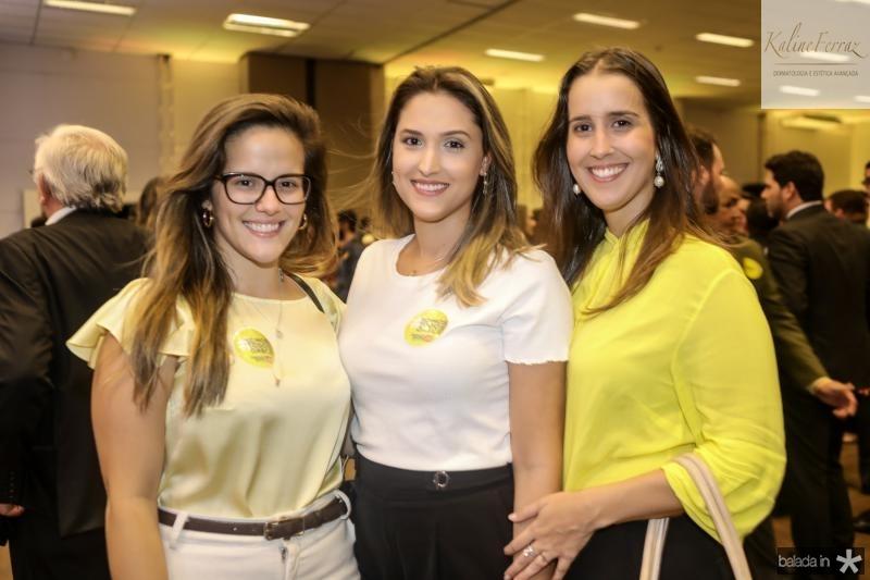 Angela Castelo, Karla Benevides e Raquel Clain