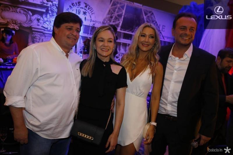 George e Erica Lima, Carmen Rangel e Adriano Nogueira