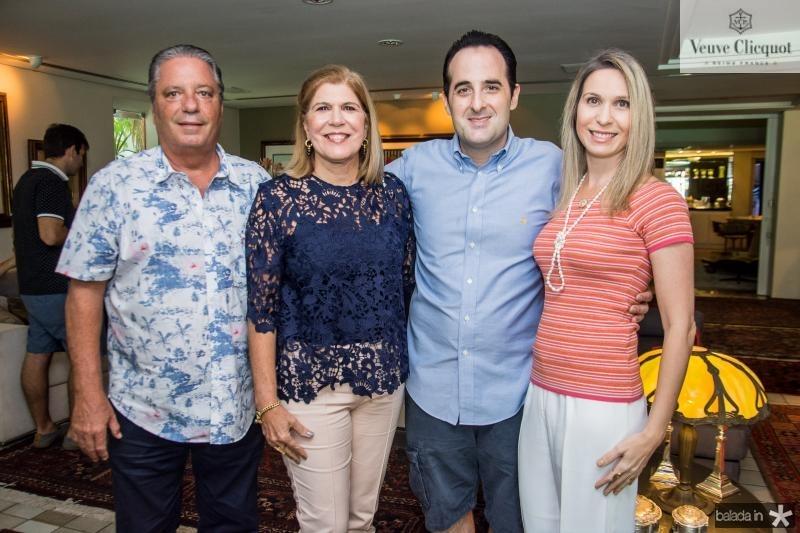 Roberto Studart, Sophia Egito, Leonardo Carneiro e Fabia Carneiro