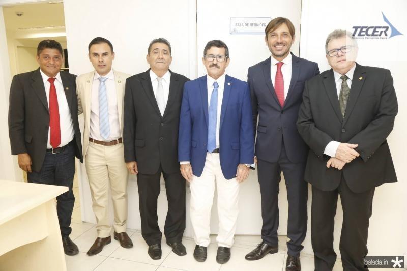 John Monteiro, Marcio Cruz, Alipio Rodrigues, Professor Eloi, Guilherme Sampaio e Juarez Leitao