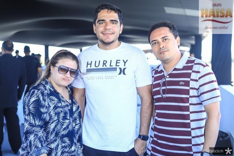 Paula Dias, Daniel Adams e Jacinto Emidio