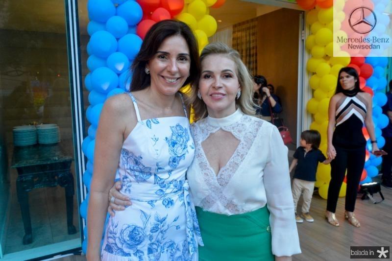 Cristina Sleimann e Sandra Frota