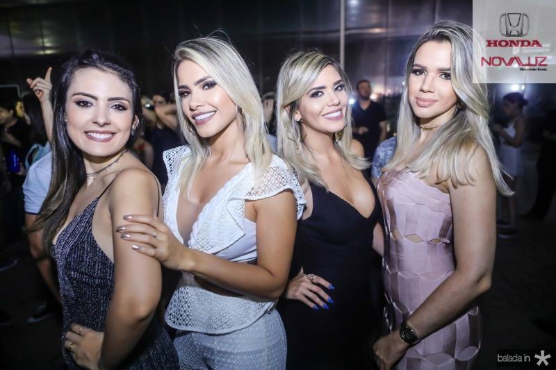 Mariana Teixeira, Paloma Gomes, Jordana Araujo e Clarice Dantas