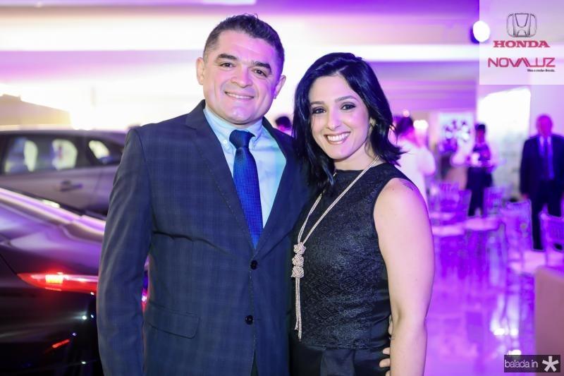 Marcos Linhares e Karina Araujo