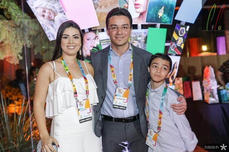 Tamyres, Fernando e Pedro Helio Brito