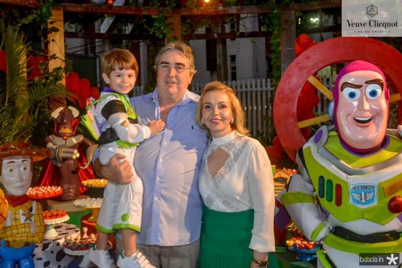 Bernardo Philomeno, Luiz e Sandra Barreto
